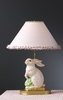 Pink Lace and Dot Cabbage Bunny Lamp