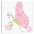 Pink Lady Butterfly Canvas Reproduction
