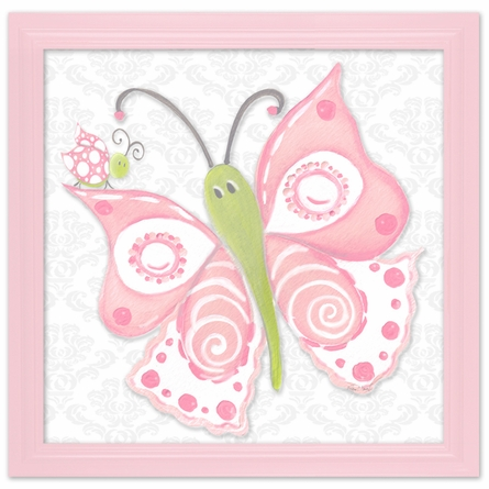 Pink Lady Flutterby Canvas Reproduction
