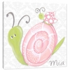 Pink Lady Snail Canvas Reproduction