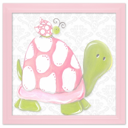 Pink Lady Turtle Canvas Reproduction