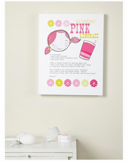 Pink Lemonade Canvas Reproduction