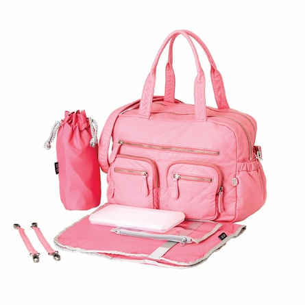 Pink Lemonade Faux Lizard Carry All Diaper Bag