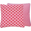 Pink Loops Large Throw Pillow