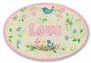 Pink Love and Birds Wall Plaque