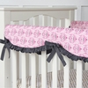 Pink Luxe Damask Crib Rail Cover
