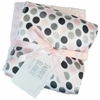 Pink Mod Dot Satin Burp Cloth