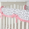 Pink Mod Lattice Crib Rail Cover