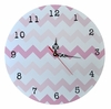 Pink Ombre Chevron Wall Clock