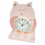 Pink Owl Table Clock