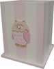 Pink Owl Waste Basket