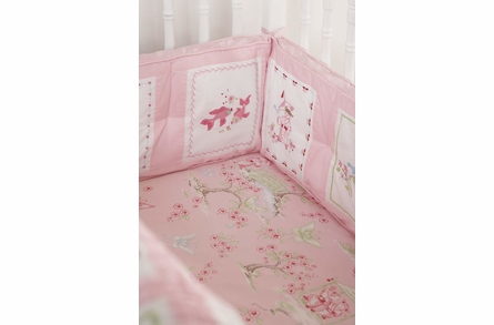 Pink Pagoda Crib Bedding Set