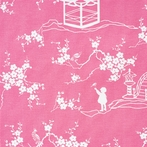 Pink Pagoda Fabric by the Yard