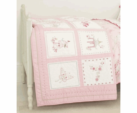 Pink Pagoda Twin Quilt