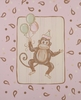 Pink Paisley Monkey II Hand Painted Canvas