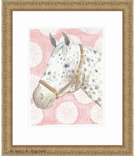 Pink Paloosa Framed Lithograph