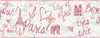 Pink Paris Sketch Border