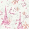 Pink Paris Sketch Wallpaper