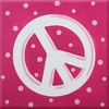 Pink Peace Imagination Square Hand Painted Canvas Art