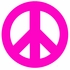 Pink Peace Sign and Polka Dots Wall Sticker