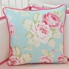 Pink Penelope Square Throw Pillow