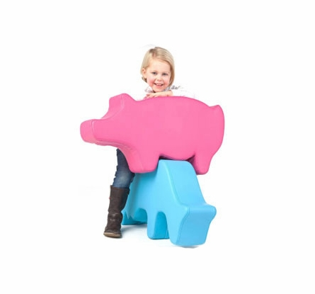 Pink Pig Farm Animal Chair
