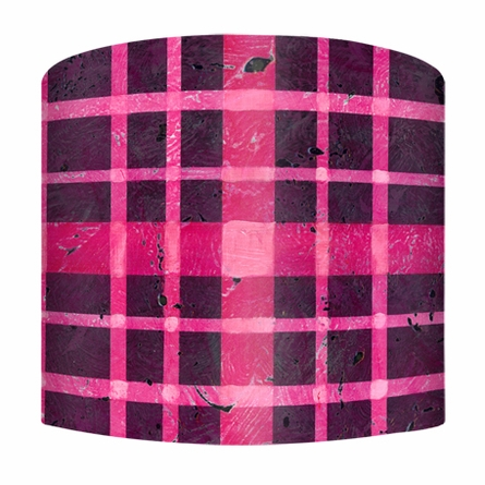 Pink Plaid Lamp