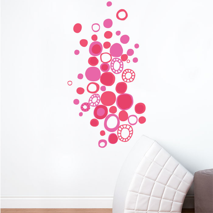 Polka Dot Wall Decals For Kids Rooms : Pink Polka Dots Wall Decal - RosenberryRooms.com