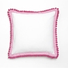 Pink Pom Pom Decorative Pillow