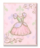 Pink Princess Dress Wall Plaque