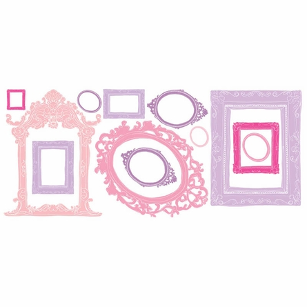 Pink & Purple Frames Wall Decal