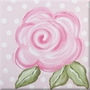 Pink Rose Imagination Square Hand Painted Canvas Art