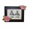 Pink Roses with Bling Dark Picture Frame