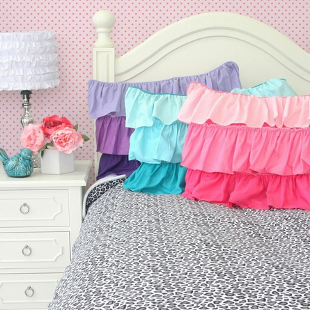 Pink Ruffle Pillow Sham