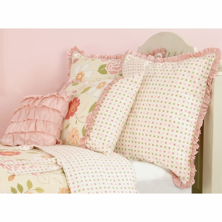 Pink Ruffle Throw Pillow