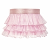 Pink Ruffled Sheer Large Shade
