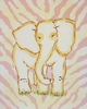 Pink Safari Elephant Hand Painted Canvas