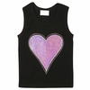 Pink Sequins Heart Tank Top