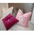 Pink Shear Elegance Beaded Throw Pillow