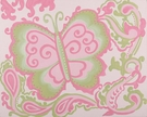 Pink Sherbet Butterfly Hand Painted Canvas