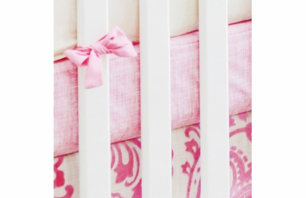Pink Sketch Crib Sheet