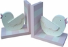 Pink Songbird Bookends
