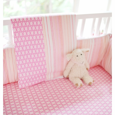 Pink Sorbet Crib Bedding Set