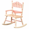 Pink Stripe Rocking Chair
