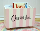 Pink Stripe Wooden Bookholder