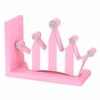 Pink Striped Crown Bookends