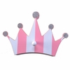 Pink Striped Crown Pegs - Set of 2