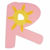 Pink Sun Wall Letter - R