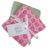 Pink Tile Burp Cloth Set