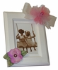 Pink Tulle and Rose Picture Frame